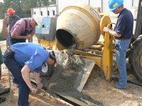 praca z betonem